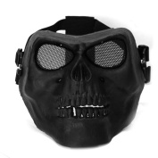 Dcolor Full Face Protect Mask Scary Skull Skeleton Airsoft Paintball Hunting
