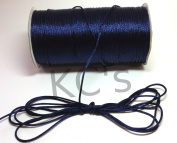 50 Yards - 2mm Navy Blue Satin Rattail Cord Chinese/china Knot Rat Tail Jewellery Braid 100% Polyester