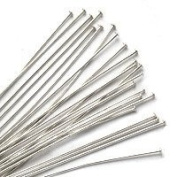 Head Pins Sterling Silver 24 Gauge 5.1cm