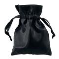 Satin Gift Bags Drawstring Pouches 7.6cm x 10cm Black