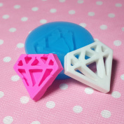 Kawaii Cute Fashion Diamond Jewellery Stone Fondant Silicone Mould for Cake Cookie Decorating Chocolate Soap Epoxy Clay Fimo Clay 014LBF