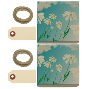 Daisies On A Windy Day Kraft Gift Boxes Set of 2