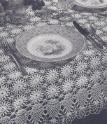 Vintage Crochet Pattern to make - Pineapple Tablecloth Runner Doily Set. NOT a finished item. This is a pattern and/or instructions to make the item only.
