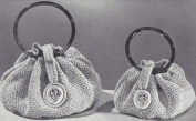 Vintage Crochet PATTERN/INSTRUCTIONS to make - Bracelet Handle Handbag Purse Bag Small Large. NOT a finished item. This is a pattern and/or instructions to make the item only.