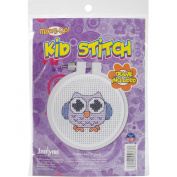 Janlynn Kid Stitch 11 Count Owl Mini Counted Cross Stitch Kit, 7.6cm