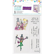docrafts Roald Dahl Charlie and The Chocolate Factory Clear Stamps, Wiz-Banger
