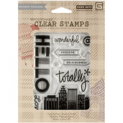 Hero Arts CL793 Basic Grey Second City Clear Stamps By Hero Arts-Totally