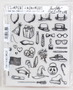 Stampers Anonymous Tim Holtz Cling Rubber Stamp Set, 18cm by 22cm , Crazy Things