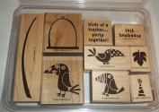 Stampin Up Just Beakause Rubber Stamp Set of 9