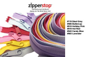 Zipperstop Wholesale YKK® 80cm 6pcs Assorted Hottest Colours YKK® #4.5 Handbag Zippers - Extra-long Pull Closed Bottom Colour #119 Steel Grey, #506 Buttercup, #515 Holiday Pink, #519 Hot Red, #542 Candy Blue, #553 Lavender