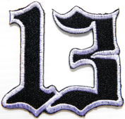 Lucky Number 13 Biker Motorcycles Jacket T-shirt Patch Sew Iron on Embroidered