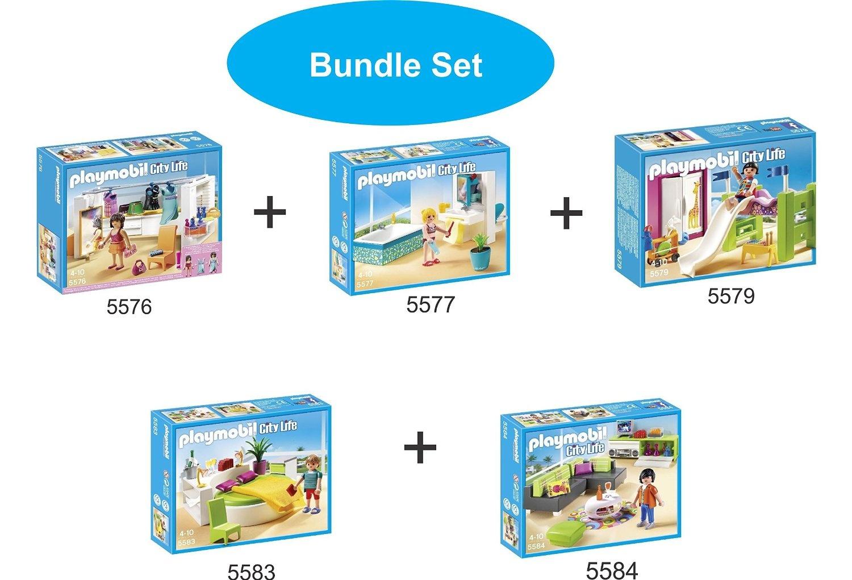 Playmobil: Modern Dressing Room, Modern Bathroom, Children\'s Room ...