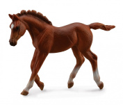 CollectA Horses Thoroughbred Foal Walking Chestnut #88670