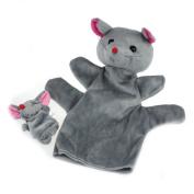FEITONG(TM) 2Pcs Mouse Soft Animal Finger Puppet Baby Infant Kid Toy Plush Toys
