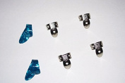 2 Small Blue Pearloid Thumb Pick and 4 NP2 National Finger Pick 100581; Banjo, Dobro, Steel, Guitar, USA