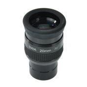 SWA 1.25inch 20mm Super Wide Angle 70 Degree Eyepieces for Astronomical Telescope - Five Elements Fully-coated High-index Glass - New Look and Internal Design - Easier to Grip Rubber Armour and New Eyecups