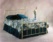 Hillsdale Furniture 1036HFR Chelsea Headboard with Rails, Full, Classic Brass