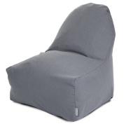 Majestic Home Goods Wales Kick-It Chair, Grey