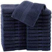 COMMERCIAL 6 PIECE BATH TOWEL SET BY MARTEX - 6 Bath Towels, Home, Shower, Tub, Gym, Pool - Machine Washable, Absorbent, Professional Grade, Hotel Quality - Navy