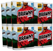 Brawny Paper Towels, Pick-A-Size, White, 2 Giant Rolls