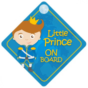 BLP009 Little Prince On Board Car Sign New Baby / Child Gift / Present / Baby Shower Surprise