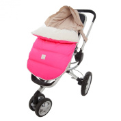7 A.M. ENFANT Lamb Pod Cover for Strollers and Car-Seats, Neon Pink, Medium/Large