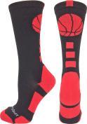 MadSportsStuff Basketball Logo Athletic Crew Socks