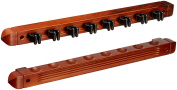 HJ Scott CR1125 8-Cue Wall Mount Billiard Cue Rack with Cue Clips