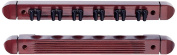 HJ Scott CR1022 6-Cue Wall Mount Billiard Cue Rack with Cue Clips