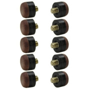 Screw-on Tips for Pool Cues- 13mm - Hard