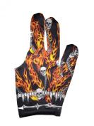 Triangle Dreamz Flames N Skullz Billiard Glove