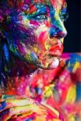 Glass Wall Art Acrylic Coloured Painted Woman, 5 Stars Gift Startonight 60cm X 90cm