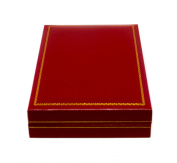 Novel Box® Jewellery Necklace Box in Red Leather (Carter Collection) + Custom NB Pouch