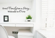 Dnven (Black Small 38cm w X 7.6cm h) Every Family Has a Story...welcome to Ours Home Vinyl Wall Decals Quotes Sayings Words Art Decor Lettering Vinyl Wall Art