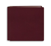 Pioneer 30cm by 30cm Postbound Leather Family Treasures Memory Book, Burgundy