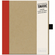 K & Company Smash Binder Kraft with Red, 29cm x 25cm
