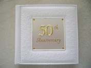 50th Gold Wedding Anniversary Gift Photo Album - Holds 80 15cm x 10cm Pictures
