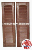 Louvred Shed Shutter or Playhouse Shutter, Brown 23cm X 70cm , 1 Pair