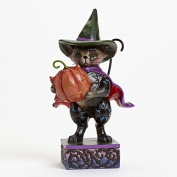 Jim Shore for Enesco Heartwood Creek Pint Sized Halloween Cat Figurine, 14cm