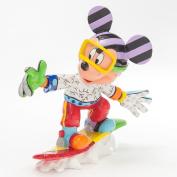 Enesco Disney by Britto Snowboarding Mickey Figurine, 21cm