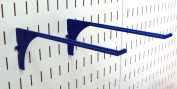 Wall Control Pegboard 23cm Reach Extended Slotted Hook Pair - Blue