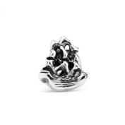 Novobeads Mayflower Sterling Silver Charm Bead - Fits all major bead bracelets