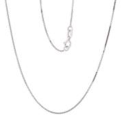 PARIKHS 46cm Box Chain Necklace in 14k White gold