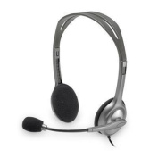 LOGITECH H110 Stereo Headset Colour coded 3.5mm plugs Versatile design Noise-Canceling microphone