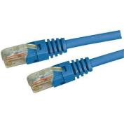 DYNAMIX 20M Cat5E Blue UTP Patch Lead (T568A Specification) 350MHz Slimline Molding & Latch Down