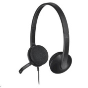 Logitech H340 USB HEADSET - BLACK          A lightweight, plug-and-play USB headset that delivers