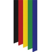 """3Doodler Consumables, PLA """"Essentials"""" Mixed color Pack - Yellow, Red, Green, Blue, Black"""