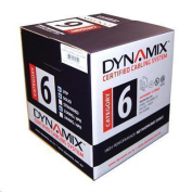 Dynamix 305M Cat6 Black UTP STRANDED Cable Roll. 550MHz 24 AWGx4P PVC Jacket. Supplied on a Reel Box