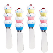 Cupcakes Cheese Spreader Set of 4