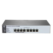 HP 1820-8G-PoE+ Web Managed Ethernet Switch, 8 Port RJ-45 GbE (4 of 8 PoE+, 65W Total Budget),